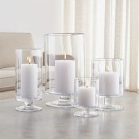 London Glass Hurricane Candle Holders | Crate and Barrel