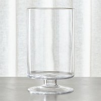 London Tall Glass Hurricane Candle Holder | Crate and Barrel