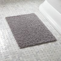 Loop Light Grey Bath Rug | Crate and Barrel