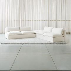 Armless Sofas Sofa Beds Perth Crate And Barrel Lotus Modular 3 Piece Low Sectional