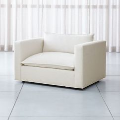 One And A Half Chair Canada White Folding Covers Ebay Living Room Chairs Accent Swivel Crate Barrel Lotus Low