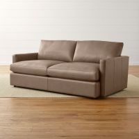 Lounge II Leather Apartment Sofa | Crate and Barrel