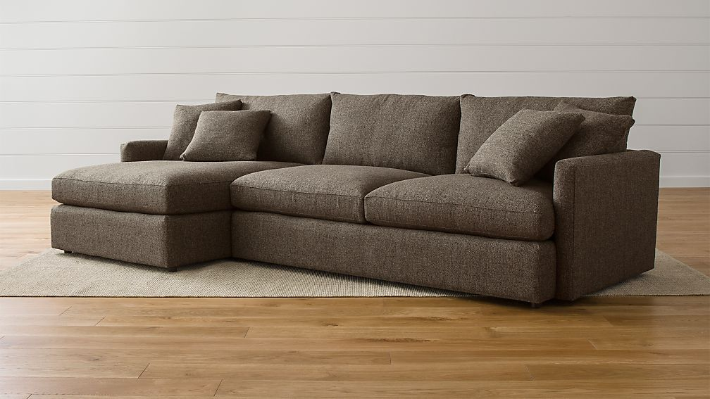 comfortable sofa beds canada genuine leather sets kijiji lounge ii petite 2-piece sectional | crate and barrel