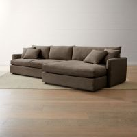Lounge II 2-Piece Right Arm Double Chaise Sectional Sofa ...