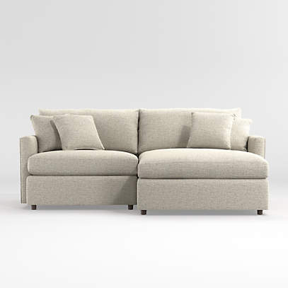 lounge 2 piece sectional crate and barrel
