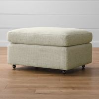 Ottomans with Wheels | Crate and Barrel