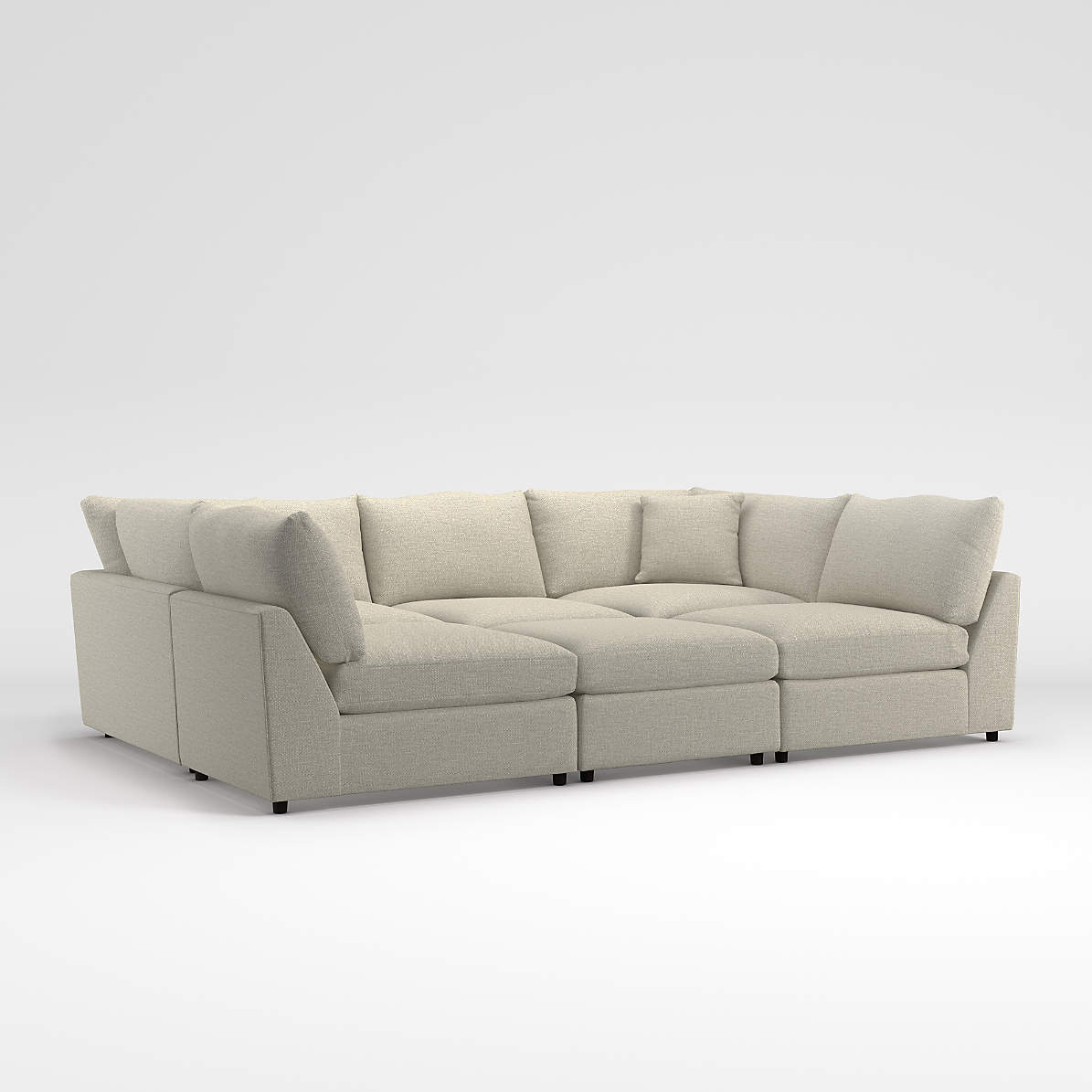 lounge 6 piece pit sectional crate and barrel