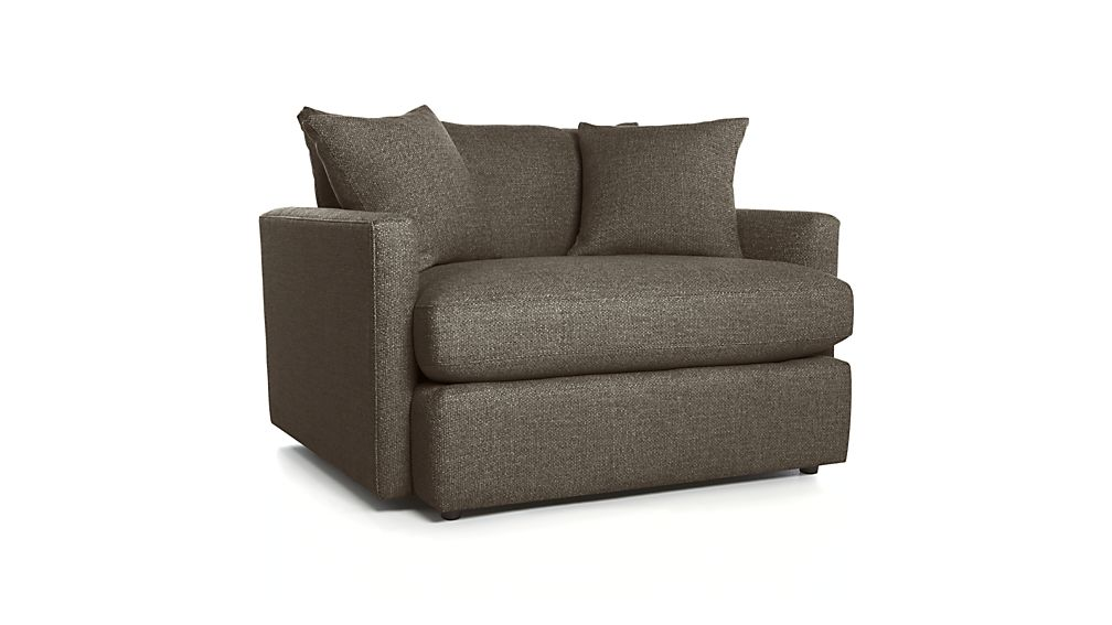 one and a half chair with lumbar support lounge ii reviews crate barrel
