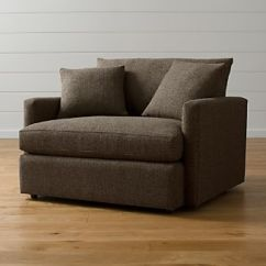 One And A Half Chair Comfortable Camping Chairs Crate Barrel Lounge Ii
