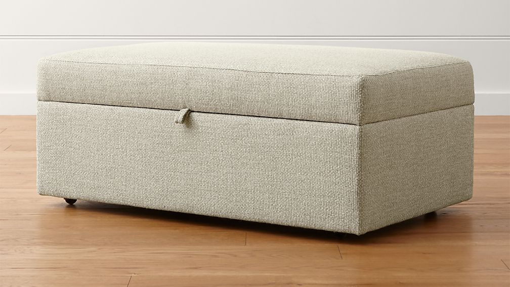 Lounge II Storage Ottoman with Tray Taft: Cement
