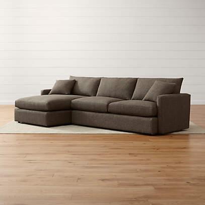 lounge ii petite 2 piece sectional sofa