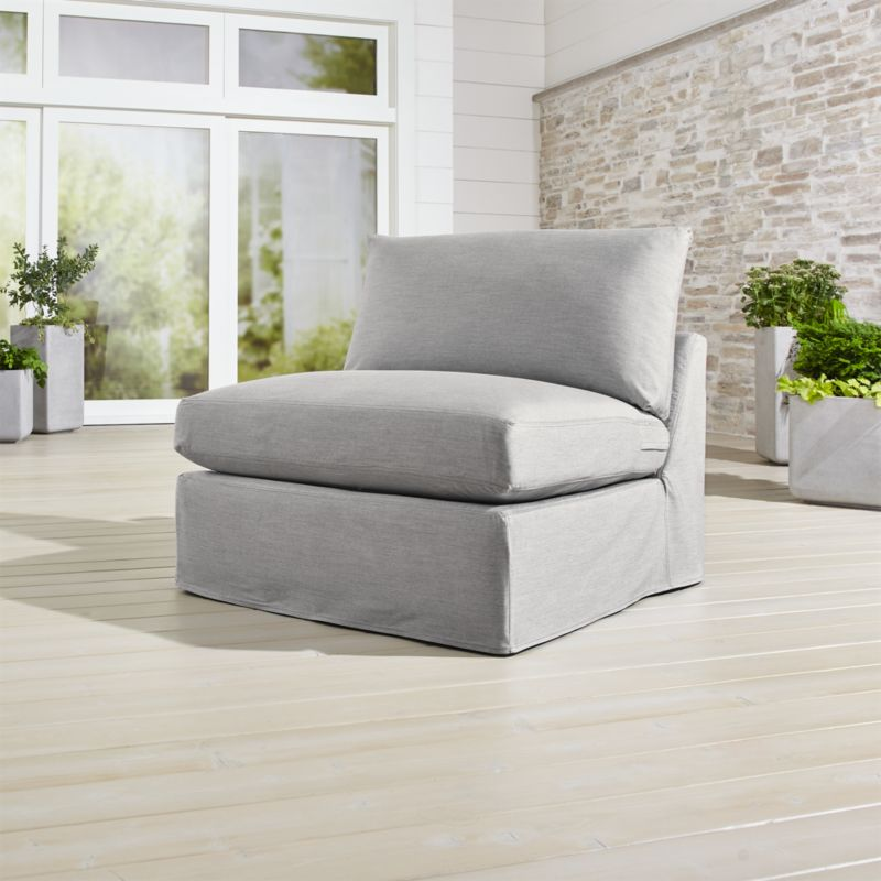 slipcover for armless chair low back chairs only lounge ii petite outdoor reviews crate and barrel