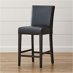 Counter Height Chair Executive Accessories Chairs Crate And Barrel Lowe Onyx Leather Stool