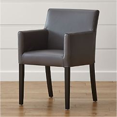 Chair With Arms Black Wooden Dining Chairs Crate And Barrel
