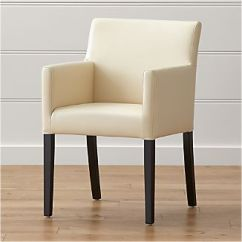 Parsons Chairs Blue Chair Bay Leather Crate And Barrel Lowe Ivory Dining Arm