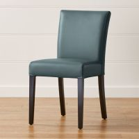 Lowe Ocean Leather Dining Chair + Reviews | Crate and Barrel