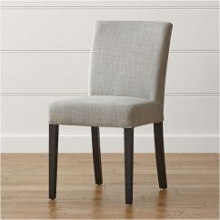 Upholstered Computer Chair How To Tie A Person Lowe Pewter Dining + Reviews | Crate And Barrel