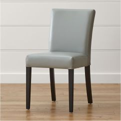 Leather Dining Room Chairs Morrisons Garden Chair Covers Lowe Ivory Reviews Crate And Barrel