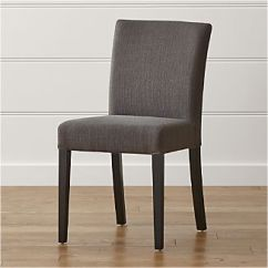 Parson Chairs Cheap Chair Covers From Ebay Parsons Crate And Barrel Lowe Smoke Upholstered Dining