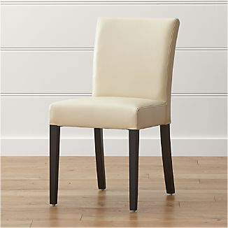 tan leather dining chairs melbourne wingback chair covers ikea crate and barrel lowe ivory