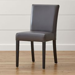 Saddle Seat Chairs Reviews Pride Lift Parts Lowe Smoke Leather Dining Chair | Crate And Barrel