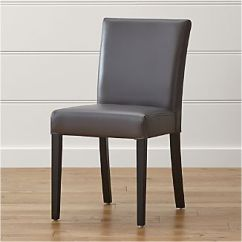 Genuine Leather Dining Chairs Melbourne Staples Office Chair With Neck Support Crate And Barrel Lowe Smoke