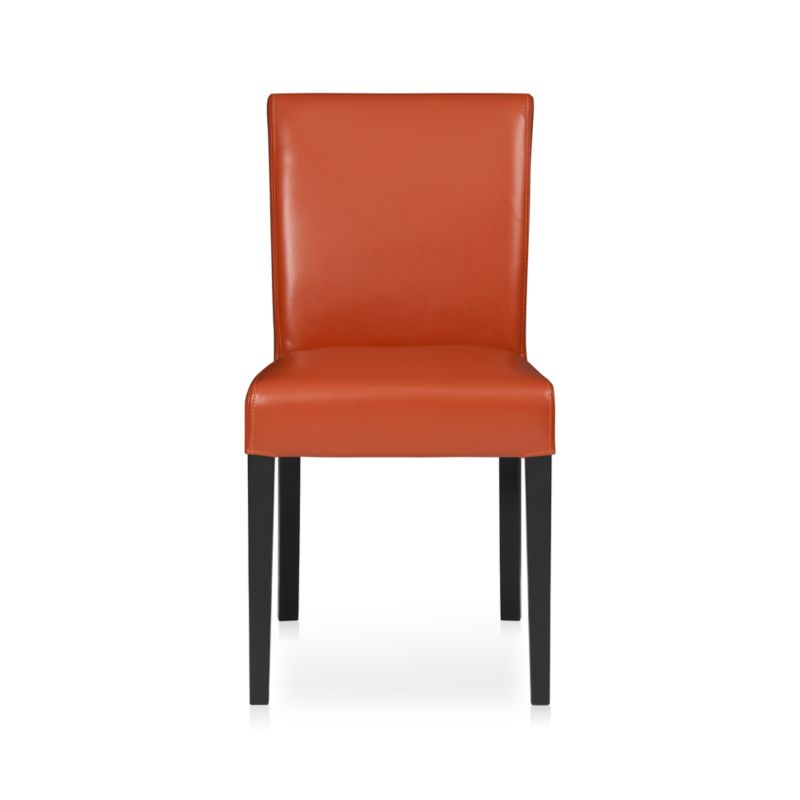 Lowe Persimmon Leather Dining Chair in Dining Chairs