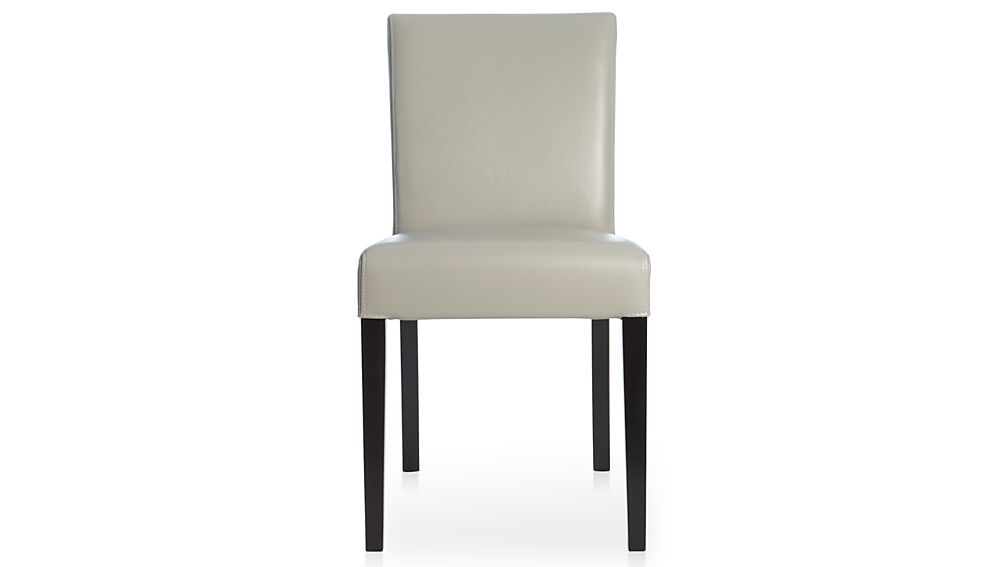 pewter chair plastic patio lowe leather dining reviews crate and barrel