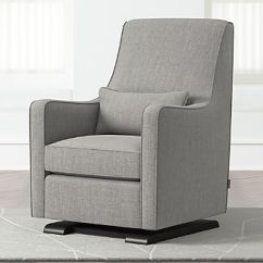 Baby Sleeper Chair Recovering Cushions Vinyl Monte Kid Furniture Crate And Barrel Luca Modern Glider