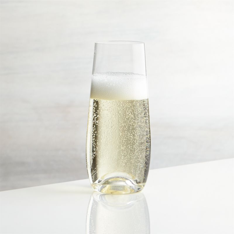 Lulie Stemless Champagne Glass  Reviews  Crate and Barrel