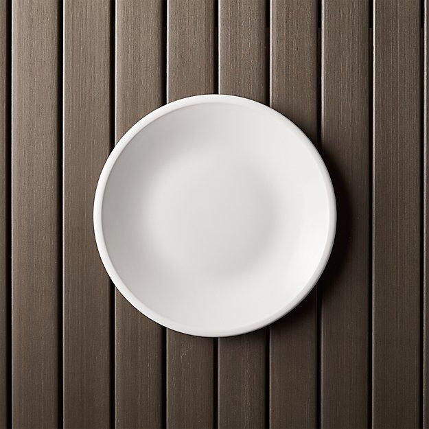 Lunea Melamine White 85 Salad Plate Crate And Barrel