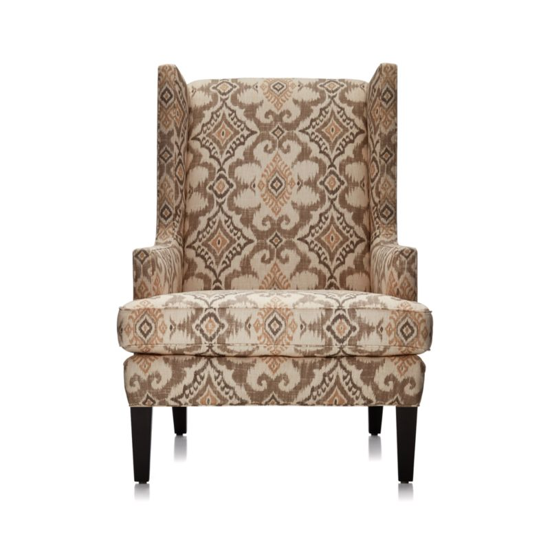 Luxe Wingback Ikat Chair in Chairs  Reviews  Crate and