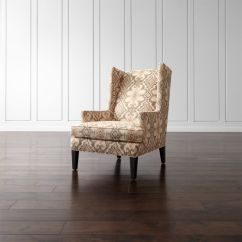 High Back Chairs With Arms Folding Teak Luxe Wingback Ikat Chair Reviews Crate And Barrel Luxewingchairraffiashs16 1x1