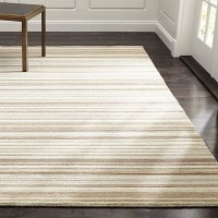 Lynx Natural Striped Hand Knotted Wool Rug | Crate and Barrel
