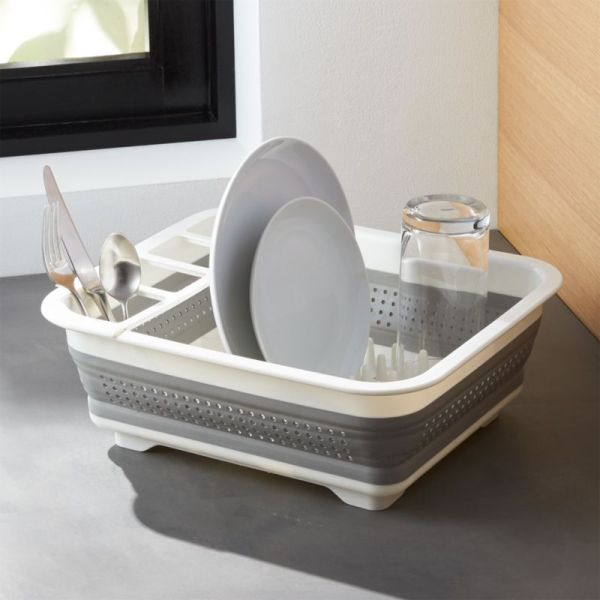 Madesmart Collapsible Dish Rack Crate And Barrel