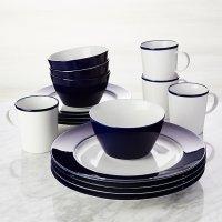 Maison Cobalt Blue 16-Piece Dinnerware Set | Crate and Barrel