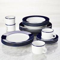 Maison Cobalt Blue 20-Piece Dinnerware Set | Crate and Barrel