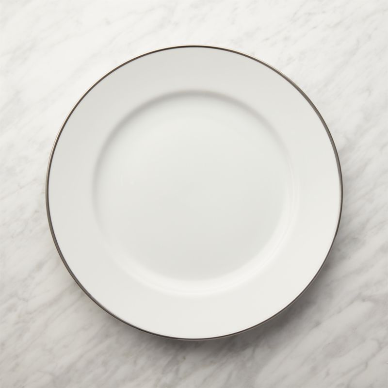 Maison Platinum Rim Dinner Plate  Reviews  Crate and Barrel