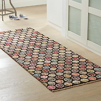 kitchen runner rugs garbage can rug runners for hallway outdoor crate and barrel malakai artisan