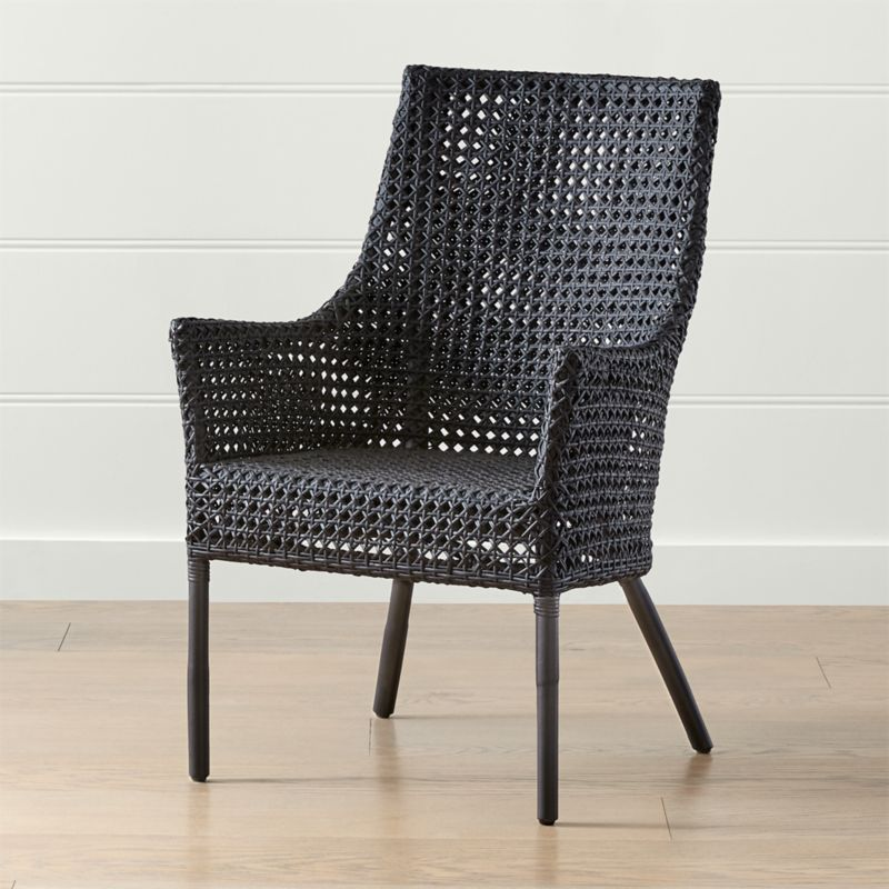 Maluku Black Rattan Dining Arm Chair  Reviews  Crate and