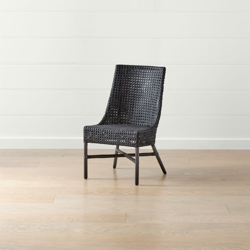 black rattan chair red leather desk maluku dining side reviews crate and barrel