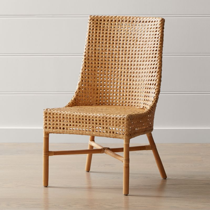 Maluku Natural Rattan Dining Side Chair Reviews Crate