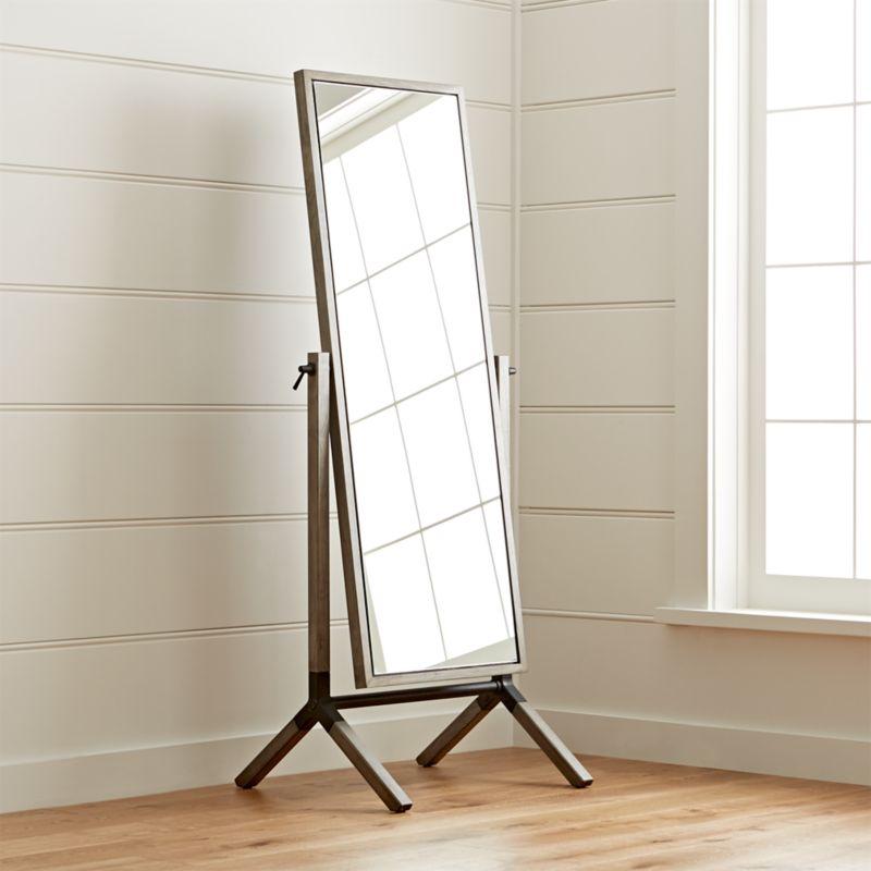 Malvern Grey Cheval Floor Mirror  Reviews  Crate and Barrel