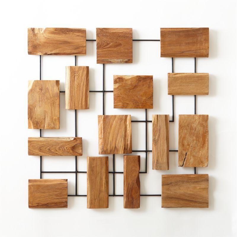 Marcel Teak Wall Art Crate And Barrel