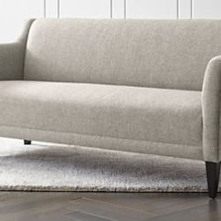 Leather Sleeper Sofa With Nailheads Grey Rattan Corner Garden Furniture Sofas, Couches And Loveseats | Crate Barrel