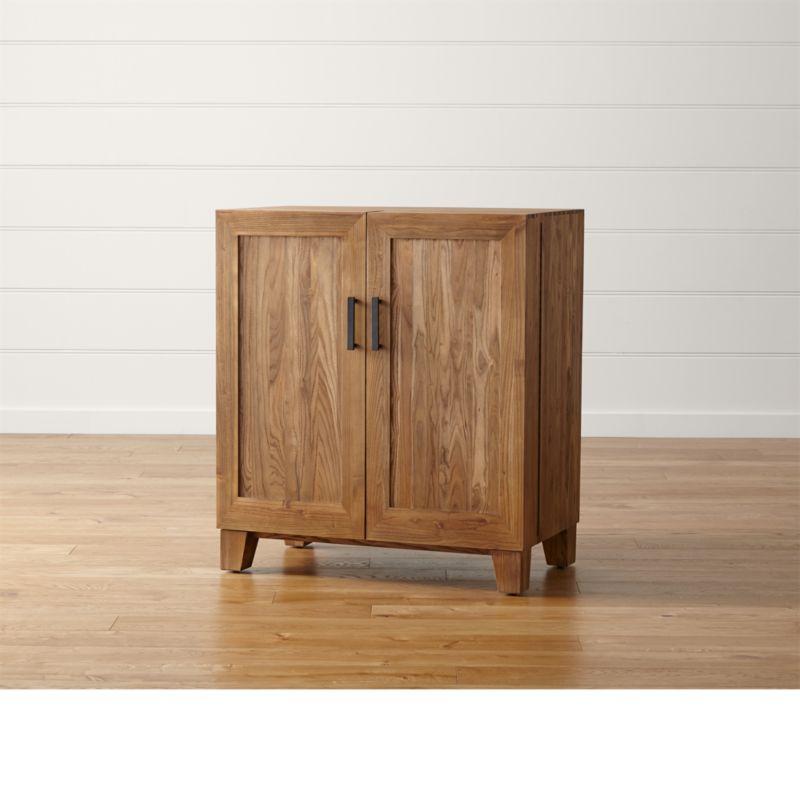 Marin Natural Bar Cabinet  Reviews  Crate and Barrel