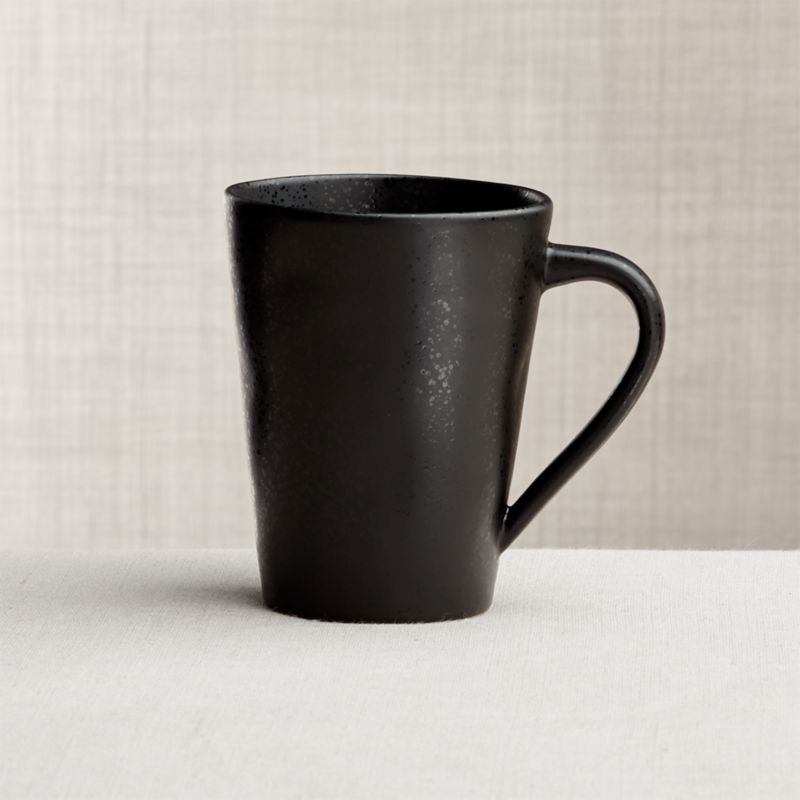 genuine leather chair wooden stevens point marin matte black mug + reviews | crate and barrel