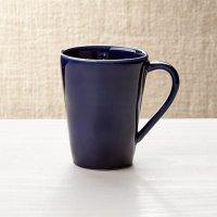Marin Navy Blue Coffee Mug   Crate and Barrel