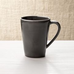 Grey Leather Sofas And Chairs Sofa Canapele Dark Stoneware Coffe Mug + Reviews | Crate Barrel