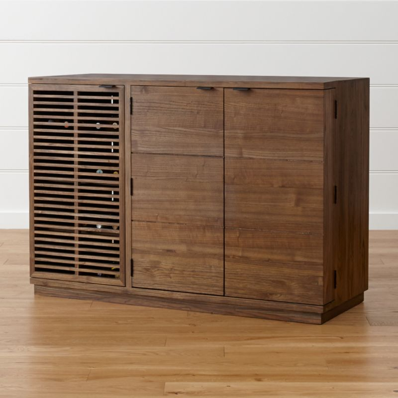 Marin Shiitake Large BarMedia Cabinet Crate And Barrel